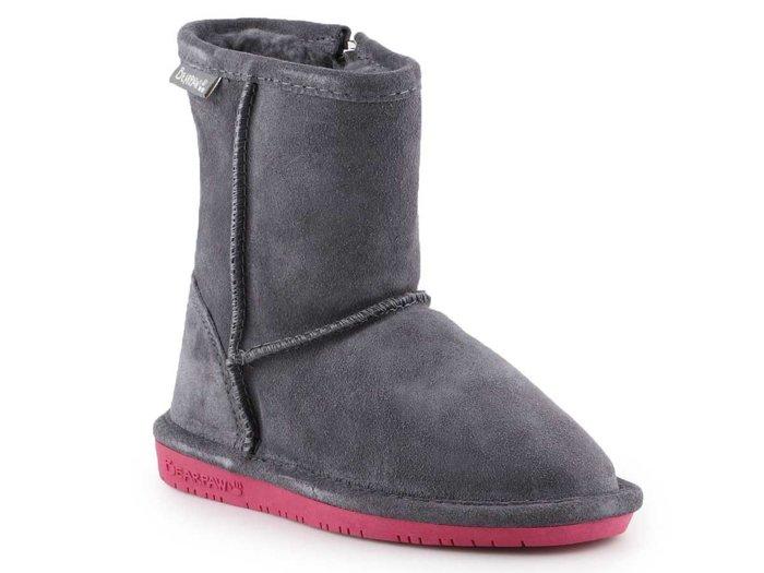 BearPaw Emma Toddler Zipper 608TZ-903 Charcoal Pomberry