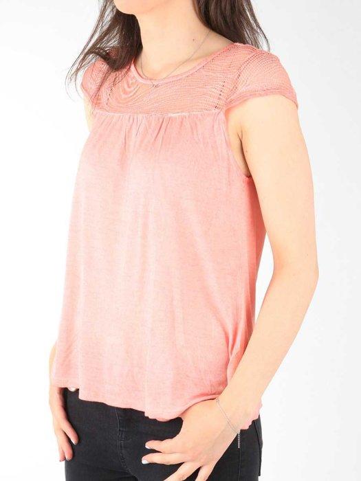 T-shirt Wrangler Capsleeve Tee Coral Peach W7337FDJX