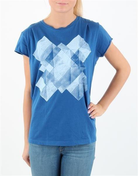 "T- shirt Damski Lee Pleat Schoulder ""True Blue"""